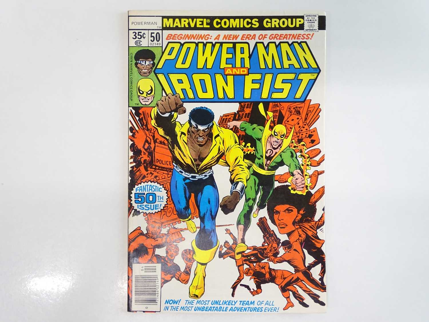 POWER MAN & IRON FIST #50 - (1978 - MARVEL) First appearance of the Heroes For Hire + Title