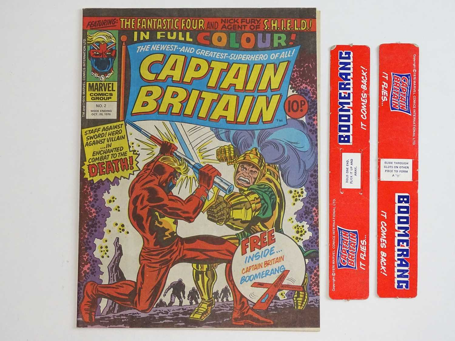CAPTAIN BRITAIN #1 to 39 - (39 in Lot) - (1976/77 - BRITISH MARVEL) - Complete 39 issue run from # - Image 6 of 11