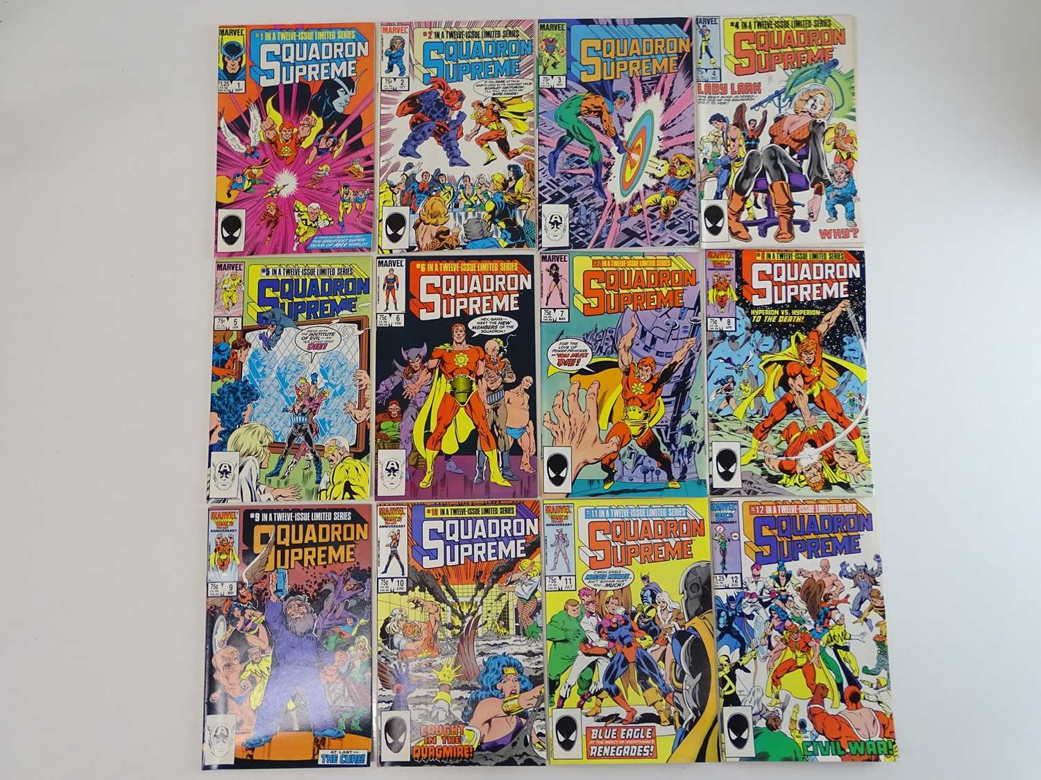 SQUADRON SUPREME - (12 in Lot) - (1985/86 - MARVEL) Complete 12 Issue run for the Limited Series -