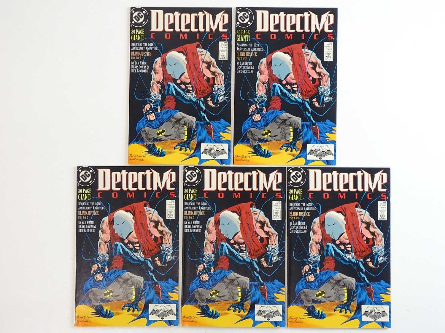 DETECTIVE COMICS: BATMAN #598 - (5 in Lot) - (1989 - DC) - First Printing - Five (5) #598 issues for