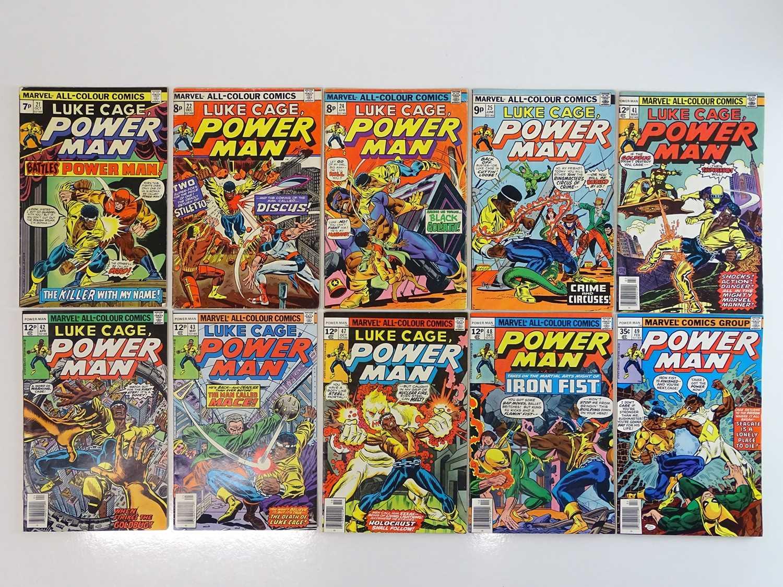 LUKE CAGE, POWER MAN #21, 22, 24, 25, 41, 42, 43, 47, 48, 49 - (10 in Lot) - (1980 - MARVEL - US