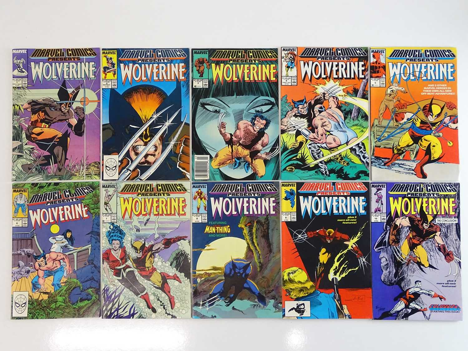 MARVEL COMICS PRESENTS: WOLVERINE - (10 in Lot) - (1988/89 - MARVEL) - Complete 10 issue Wolverine
