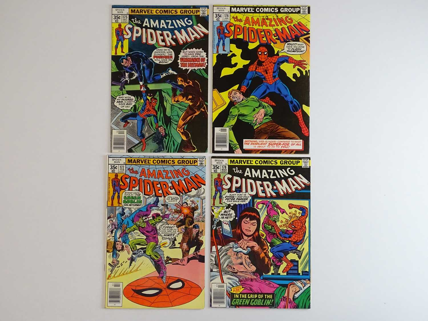 AMAZING SPIDER-MAN #175, 176, 177, 178 - (4 in Lot) - (1977/78 - MARVEL) - Includes 'Death' of