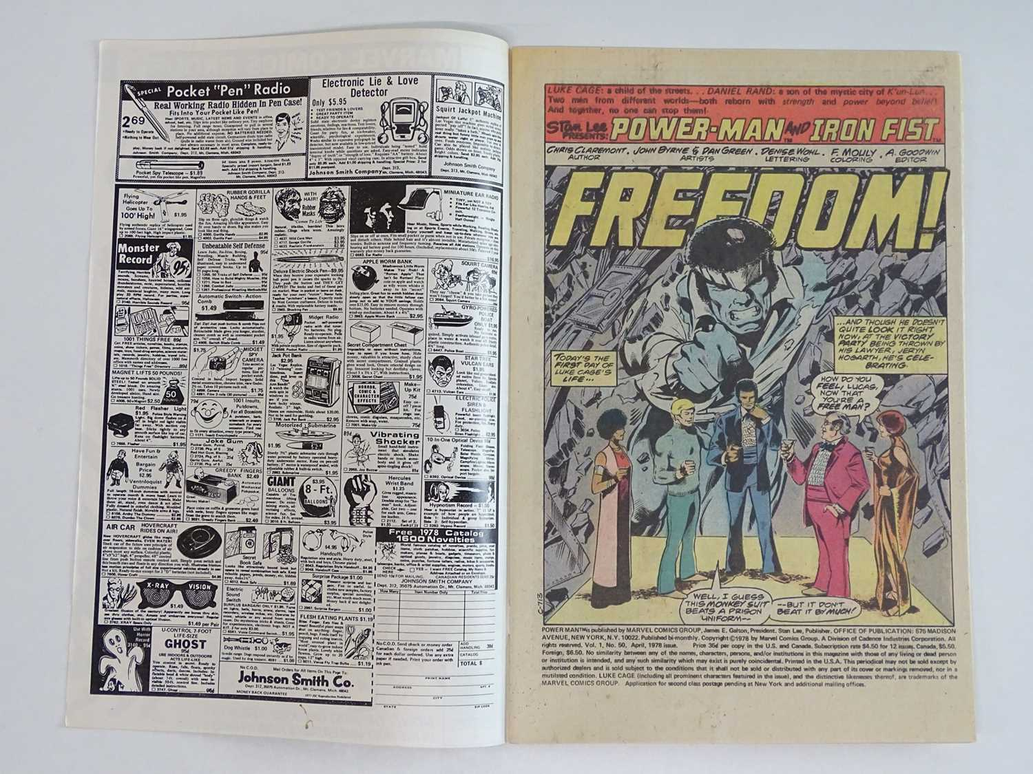 POWER MAN & IRON FIST #50 - (1978 - MARVEL) First appearance of the Heroes For Hire + Title - Image 3 of 9