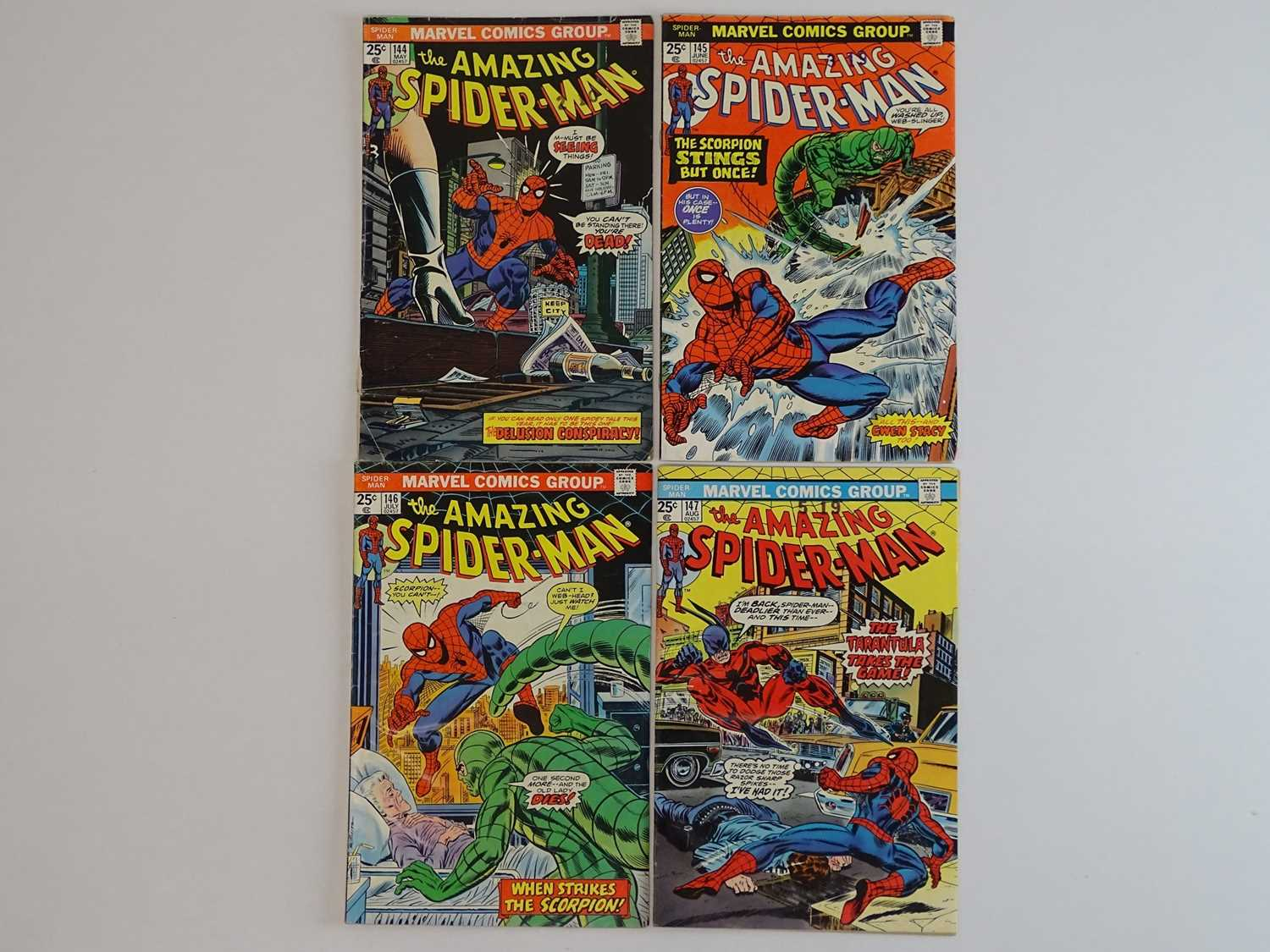AMAZING SPIDER-MAN #144, 145, 146, 147 - (4 in Lot) - (1975 - MARVEL) - Includes First appearance