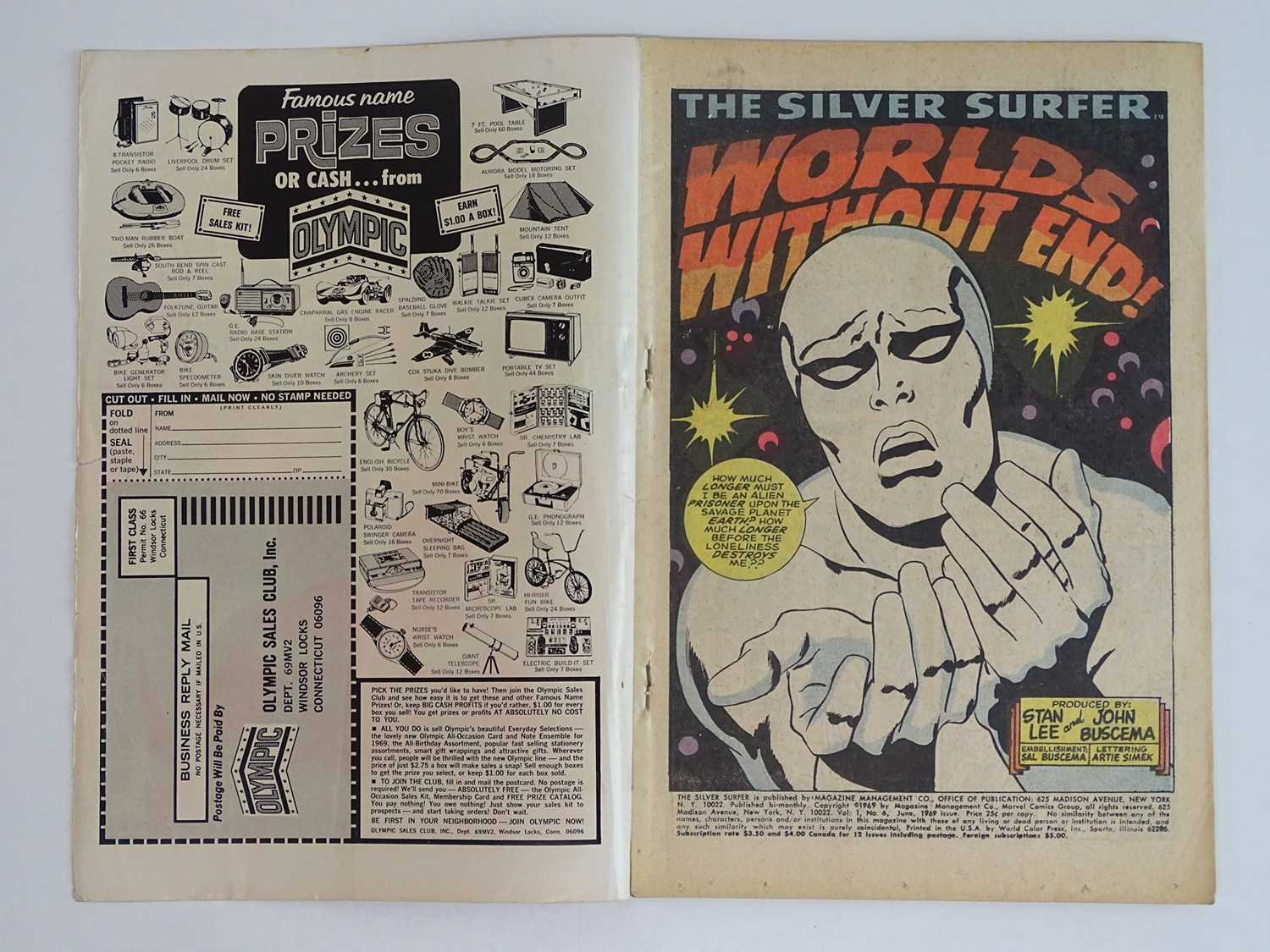 """SILVER SURFER #6 - (1969 - MARVEL - UK Cover Price) """"Tales of the Watcher"""" backup feature with Syd - Image 3 of 8"""