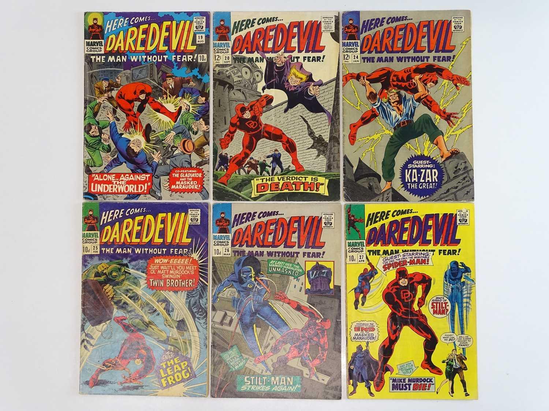DAREDEVIL #19, 20, 24, 25, 26, 27 - (6 in Lot) - (1966/67 - MARVEL - US Price & UK Price