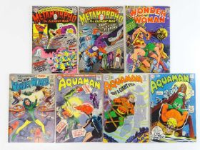 METAMORPHO + WONDER WOMAN + AQUAMAN - (7 in Lot) - (DC - UK Cover Price) - Includes METAMORPHO: