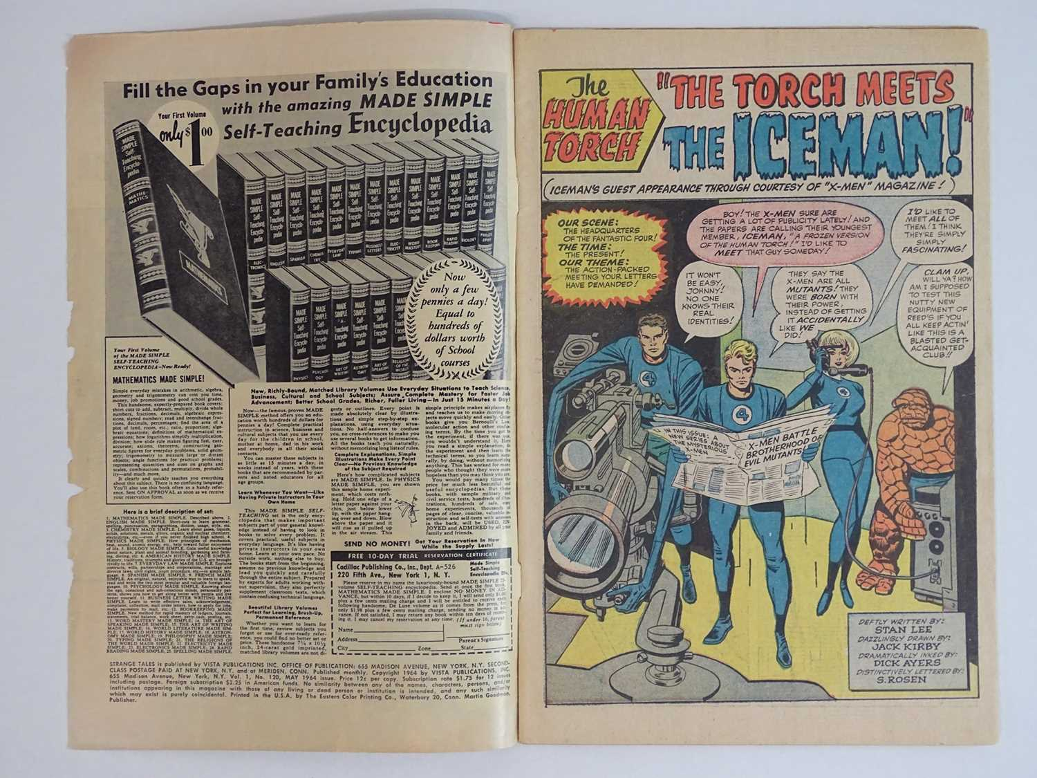 STRANGE TALES: HUMAN TORCH & DR. STRANGE#120 - (1964 - MARVEL) Includes First meeting between - Image 3 of 9