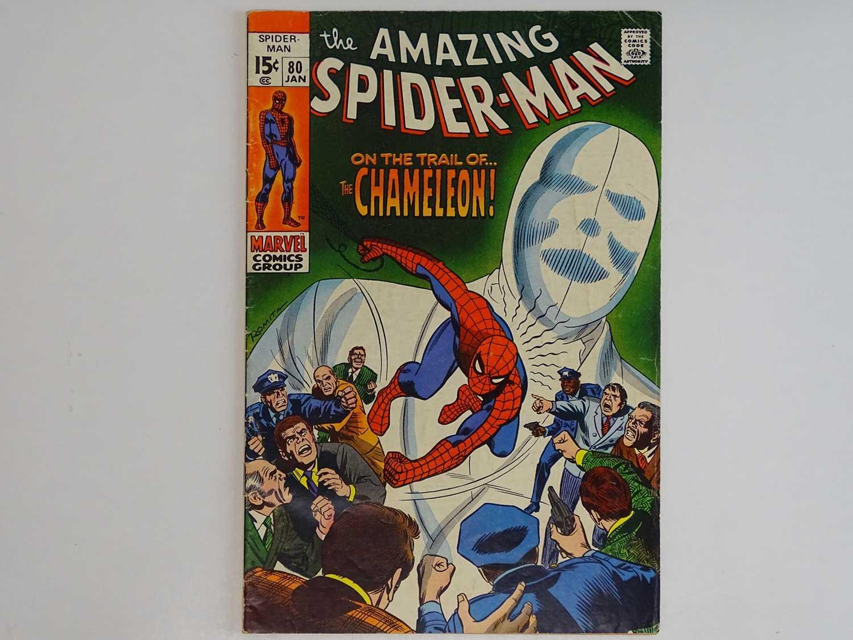 AMAZING SPIDER-MAN # 80 (1970 - MARVEL) - Chameleon appearance - John Romita Sr. cover with John