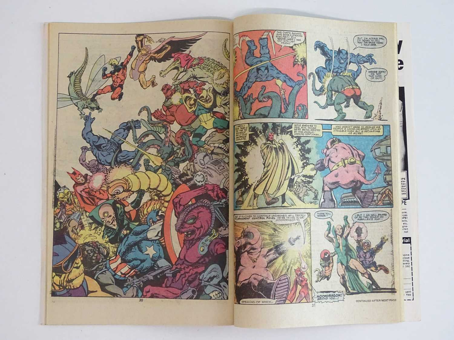 """AVENGERS KING-SIZE ANNUAL #7 - (1977 - MARVEL) - Includes """"Death"""" of Adam Warlock + Thanos, - Image 9 of 11"""