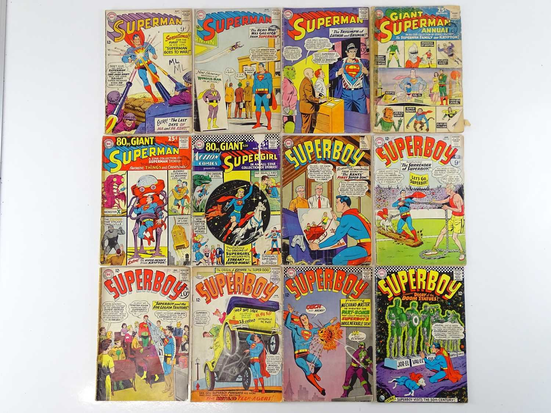 SUPERMAN, SUPERGIRL & SUPERBOY LOT - (12 in Lot) - (DC - UK Cover Price) - Includes SUPERMAN #161,