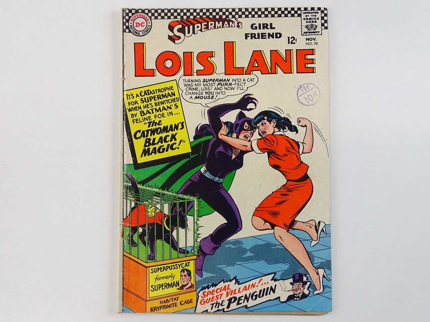 SUPERMAN'S GIRLFRIEND: LOIS LANE #70 - (1966 - DC - UK Cover Price) - KEY Book - First Silver Age