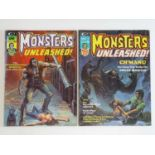 MONSTERS UNLEASHED #6 & 7 - (2 in Lot) - (1974 - MARVEL) Scarce Magazine Format - Includes