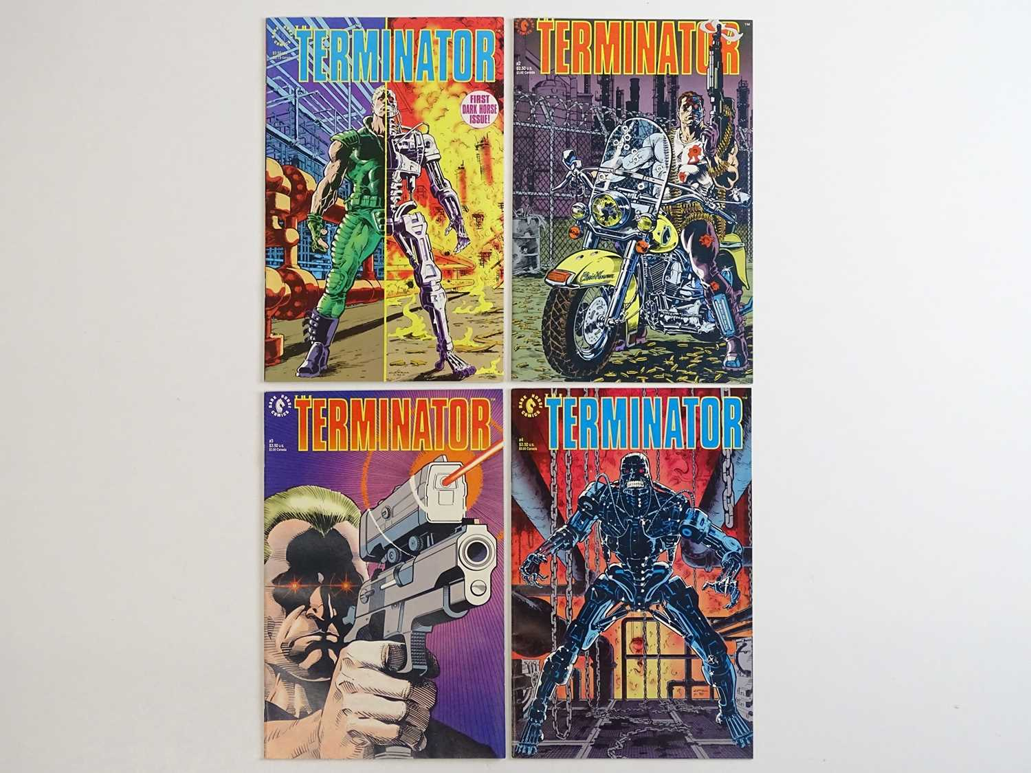 TERMINATOR #1, 2, 3, 4 - (4 in Lot) - (1990 - DARK HORSE) - ALL First Printings - Complete 4 x Issue