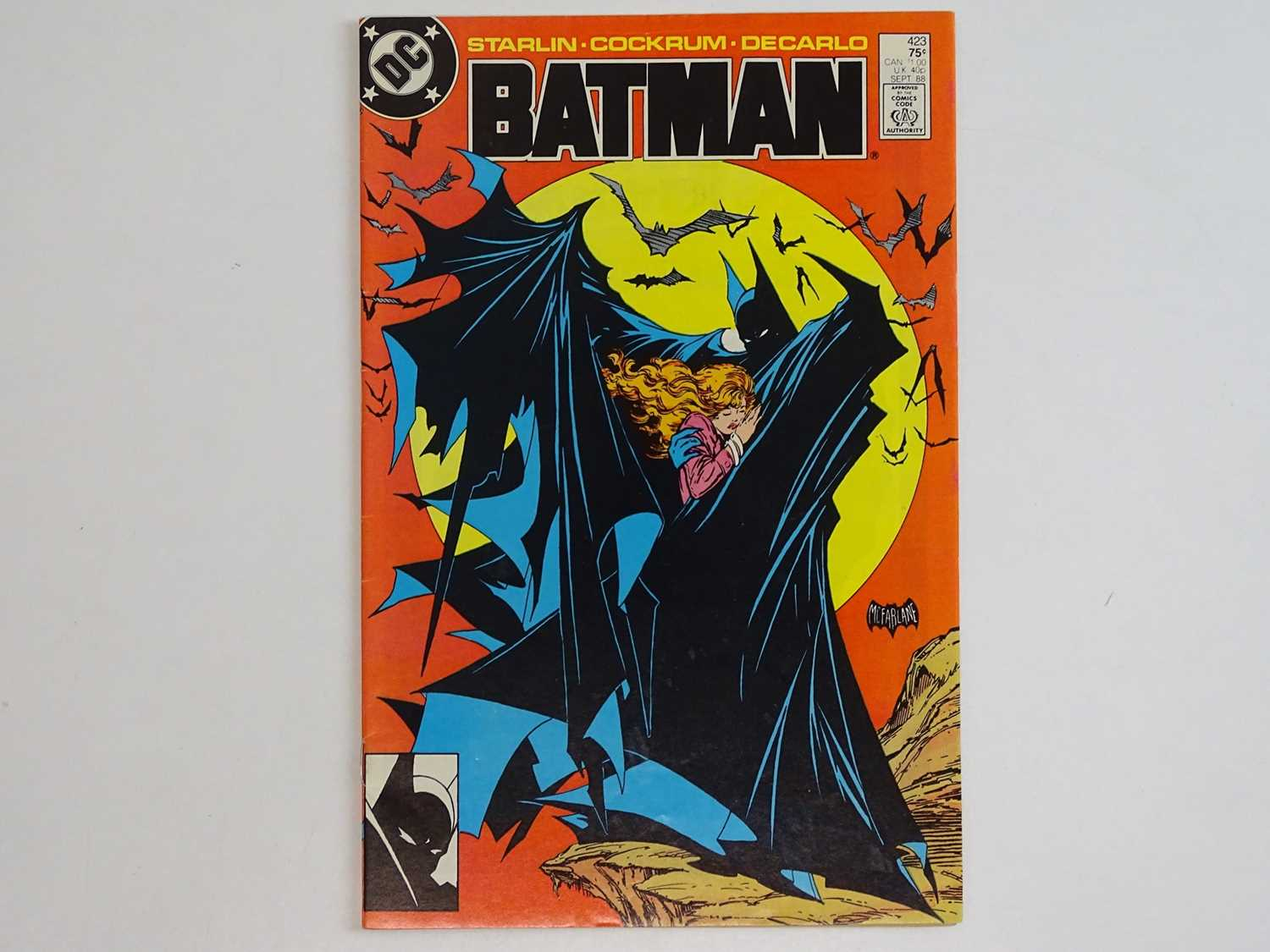 BATMAN #423 - (1988 - DC) - Classic Batman cover by Todd McFarlane with Dave Cockrum interior