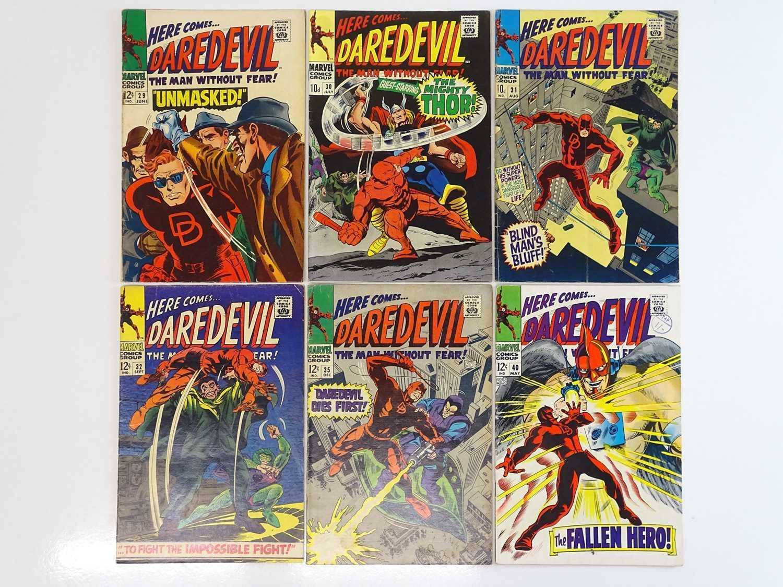 DAREDEVIL #29, 30, 31, 32, 35, 40 - (6 in Lot) - (1967/68 - MARVEL - US Price, UK Cover Price & UK