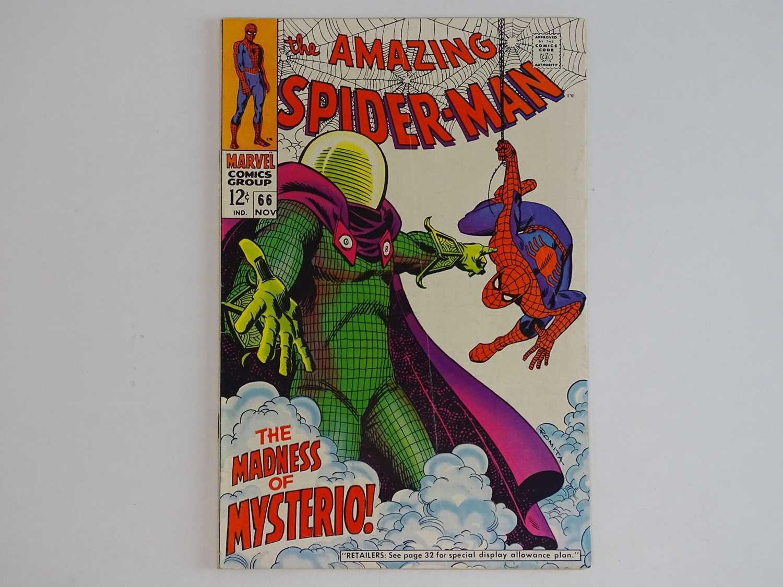 AMAZING SPIDER-MAN # 66 (1968 - MARVEL) - Spider-Man battles Mysterio. + Green Goblin cameo - John
