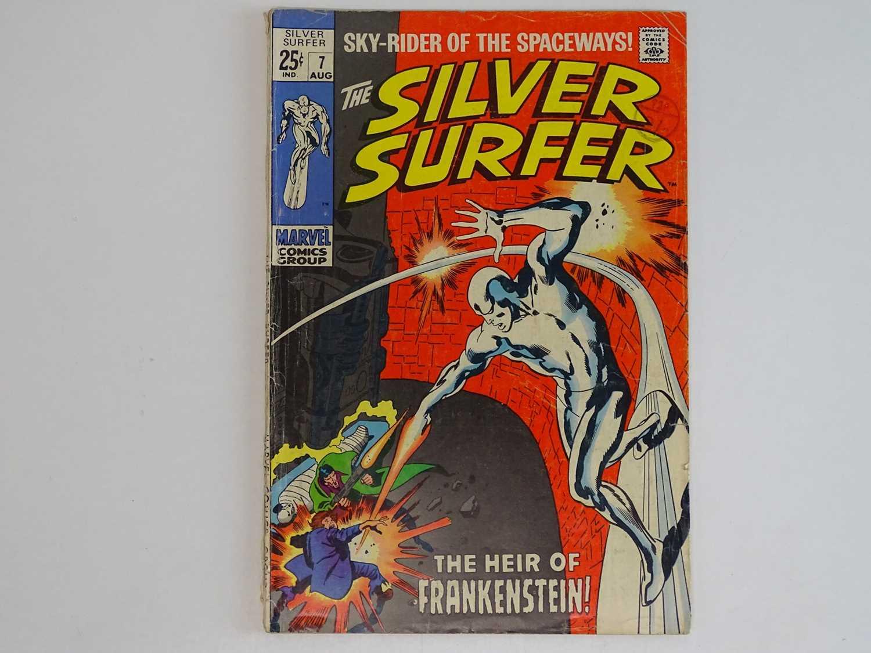 SILVER SURFER #7 - (1969 - MARVEL - UK Cover Price) Early appearance of Marvel's Frankenstein