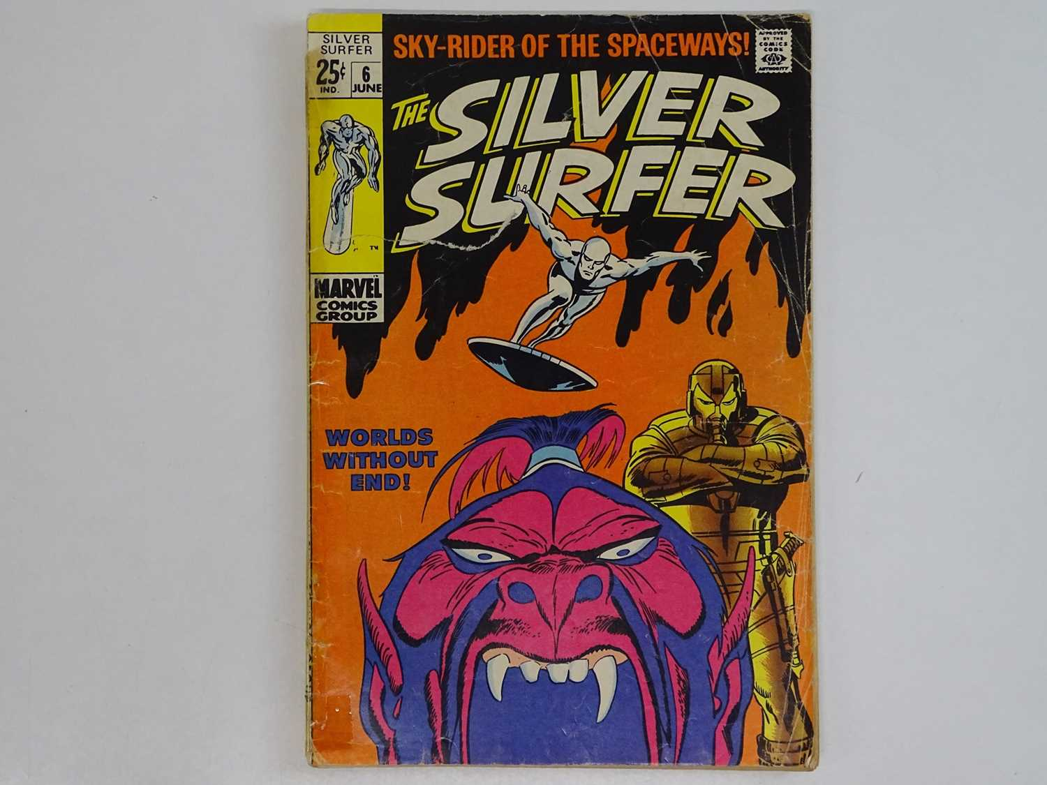 """SILVER SURFER #6 - (1970 - MARVEL) - John Buscema covers and interior art with a """"Tales of the"""