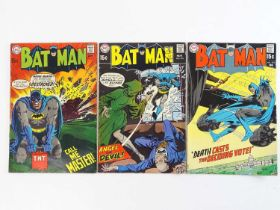 BATMAN #215, 216, 219 - (3 in Lot) - (1969/70 - DC - UK Cover Price) - Includes Alfred Pennyworth'