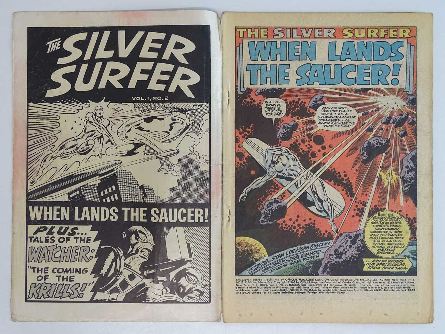 SILVER SURFER #2 - (1968 - MARVEL - UK Cover Price) - First appearance of the Brotherhood of - Image 3 of 9