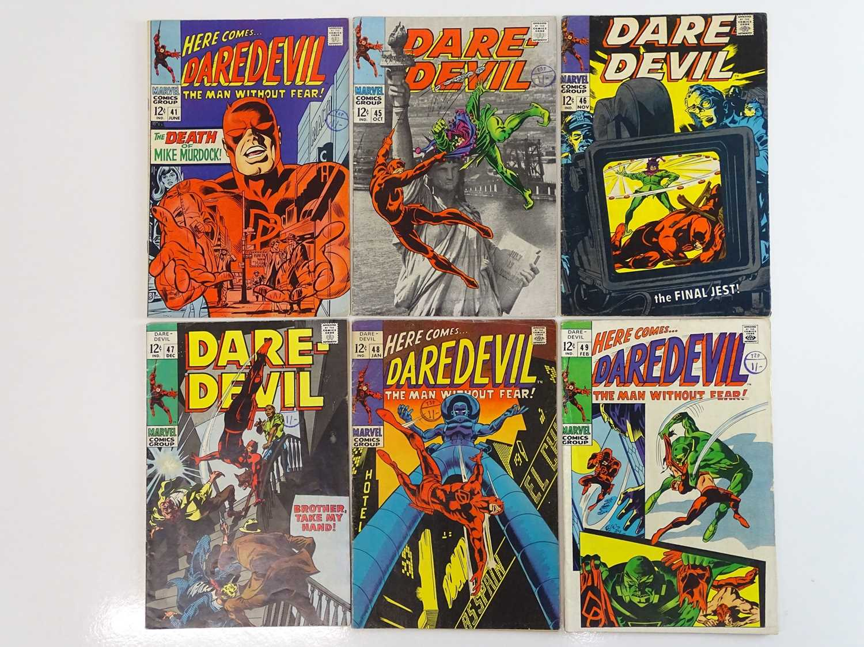 DAREDEVIL #41, 45, 46, 47, 48, 49 - (6 in Lot) - (1968/69 - MARVEL - US Price & UK Cover Price) -