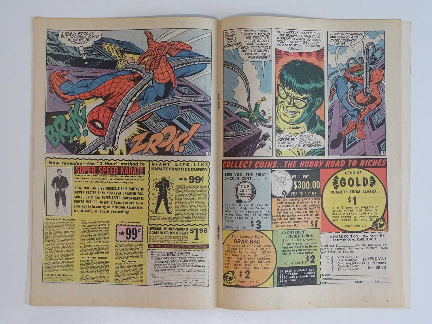 AMAZING SPIDER-MAN # 90 - (1970 - MARVEL - Uk Cover Price) - 'Death' of Captain Stacy + Doctor - Image 5 of 9
