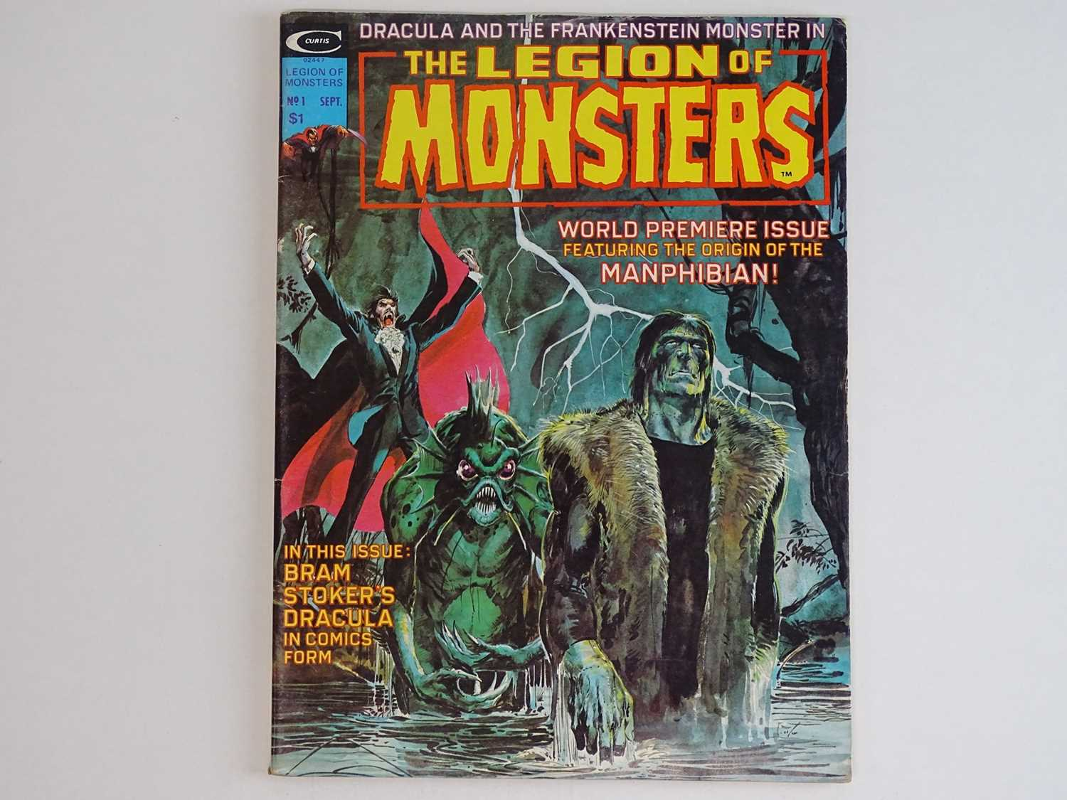 LEGION OF MONSTERS #1 - (1975 - MARVEL) Scarce Magazine Format - Origin and First appearance of