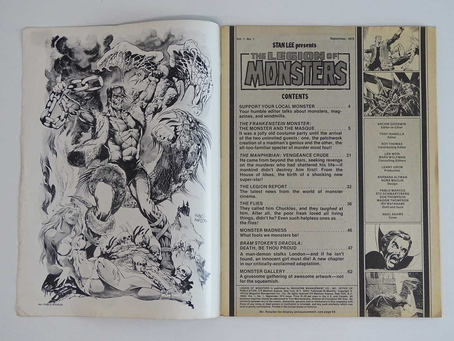 LEGION OF MONSTERS #1 - (1975 - MARVEL) Scarce Magazine Format - Origin and First appearance of - Image 3 of 10