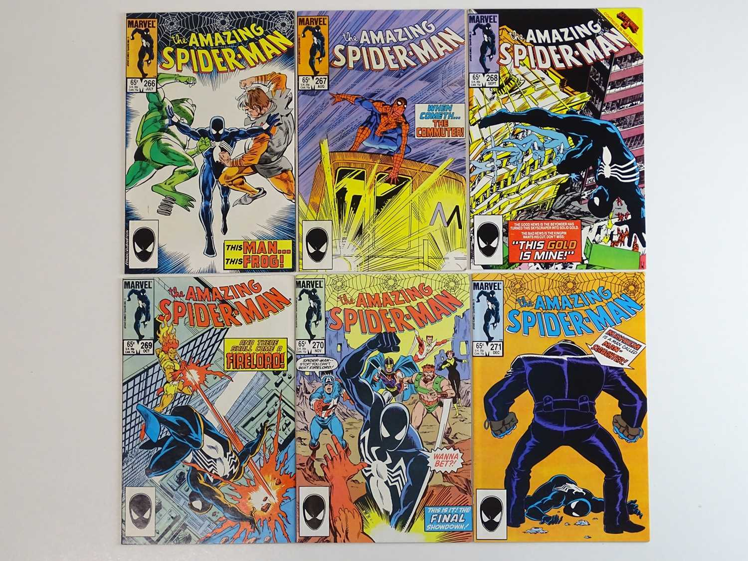 AMAZING SPIDER-MAN #266, 267, 268, 269, 270, 271 - (6 in Lot) - (1985 - MARVEL) - Includes Avengers,