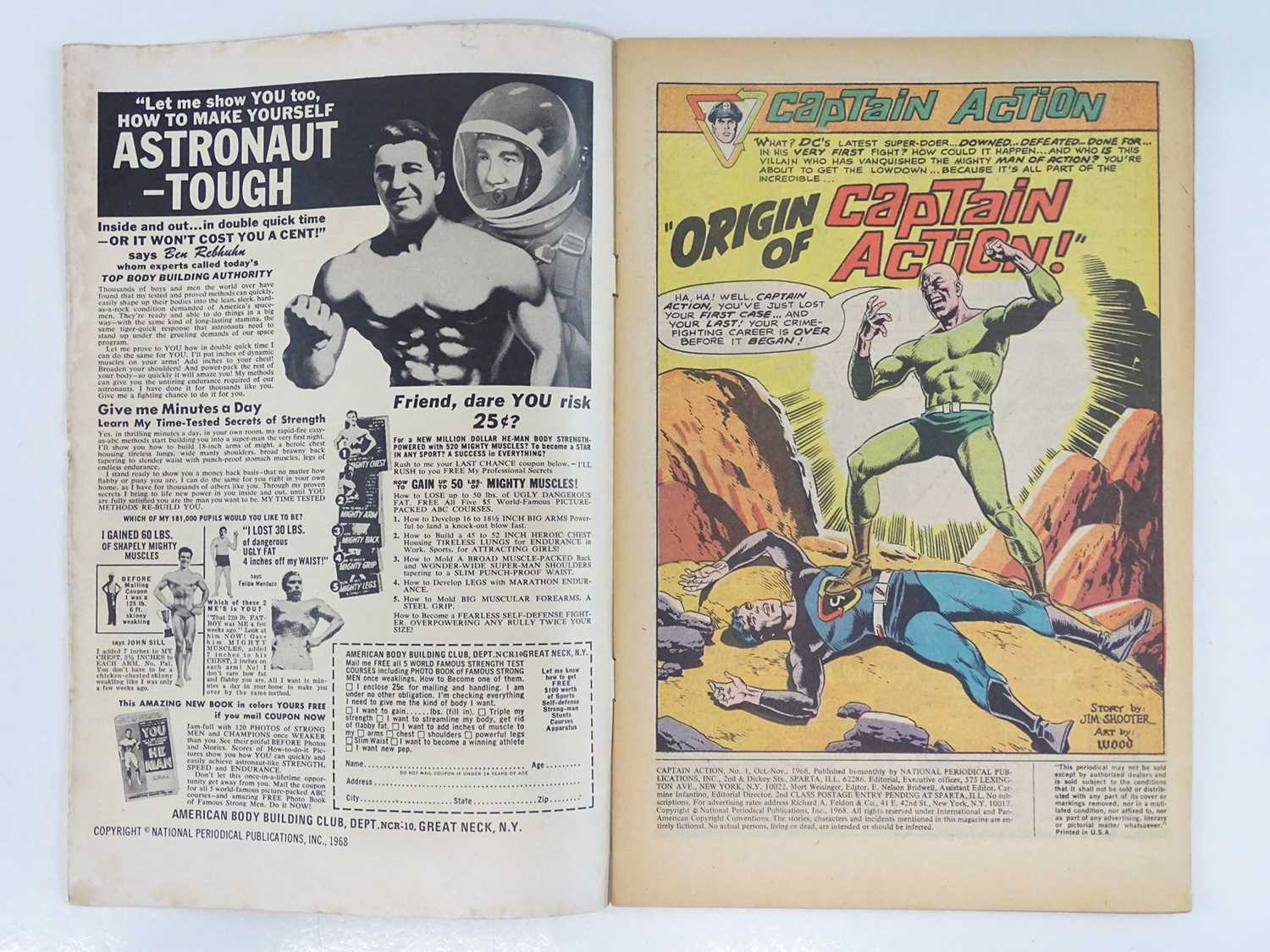 CAPTAIN ACTION #1 - (1968 - DC - UK Cover Price) - Origin and First DC comic book appearance of - Image 3 of 9