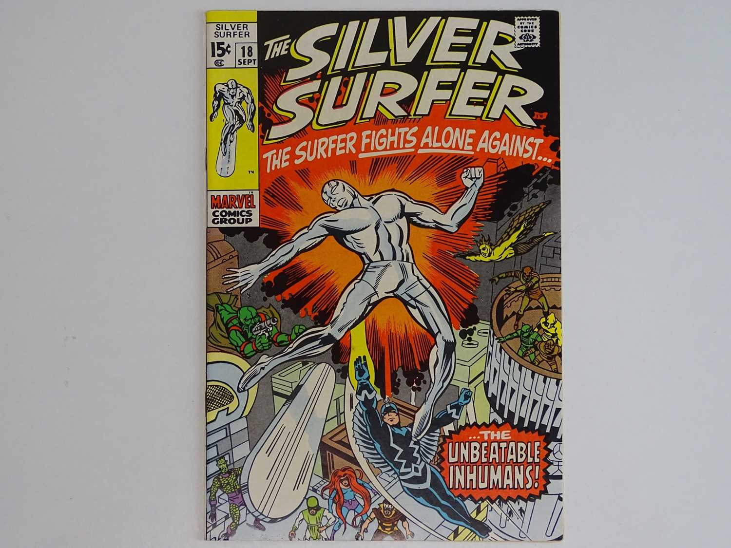 SILVER SURFER #18 - (1970 - MARVEL) - Inhumans appearance + Last issue of the title - Jack Kirby