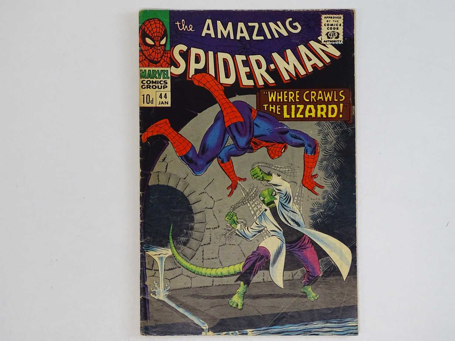 AMAZING SPIDER-MAN #44 - (1966 - MARVEL - UK Price Variant) - Second appearance of the Lizard - John