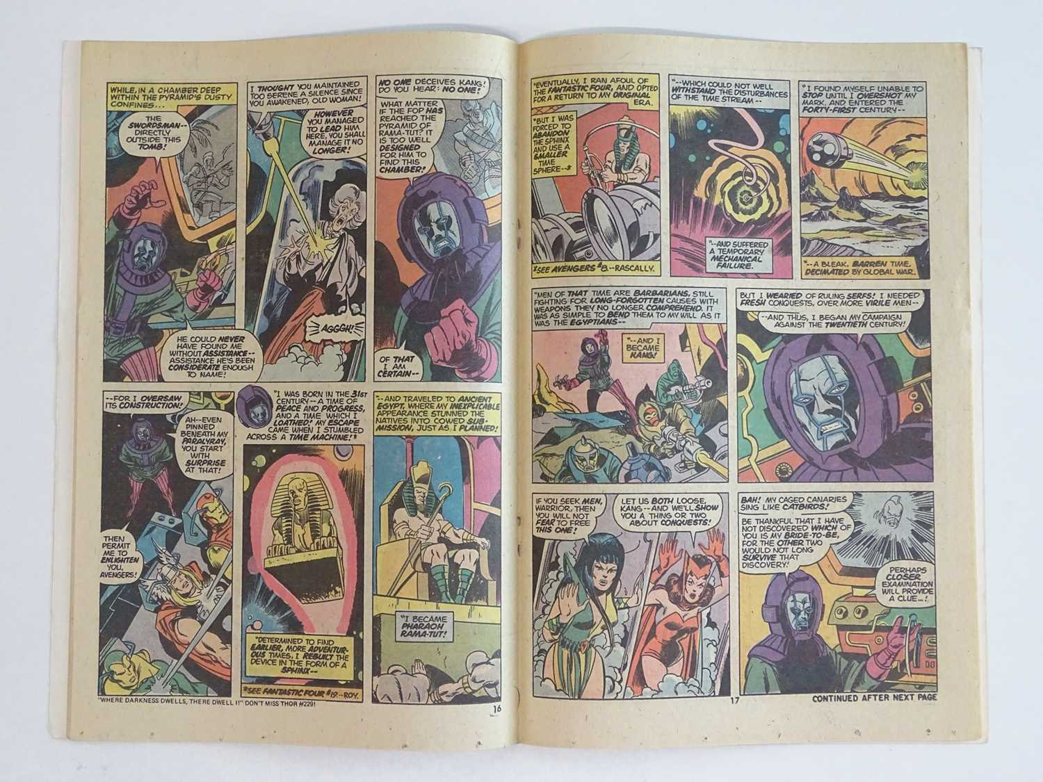 AVENGERS #129 - (1974 - MARVEL) - Classic Kang Cover + Kang the Conqueror, Ram-Tut appearances - Ron - Image 5 of 9