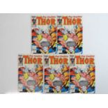 THOR #338 - (5 in Lot) - (1983 - MARVEL) - Second appearance of Beta Ray Bill - Cover, story and