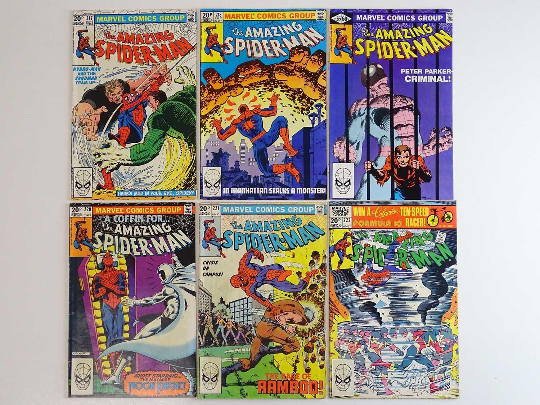 AMAZING SPIDER-MAN #217, 218, 219, 220, 221, 222 - (6 in Lot) - (1981 - MARVEL - US Price & UK Price