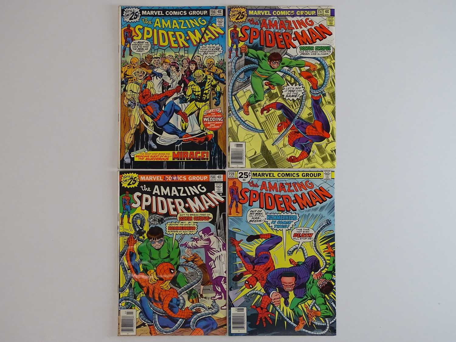 AMAZING SPIDER-MAN #156, 157, 158, 159 - (4 in Lot) - (1976 - MARVEL) - Includes First appearance of