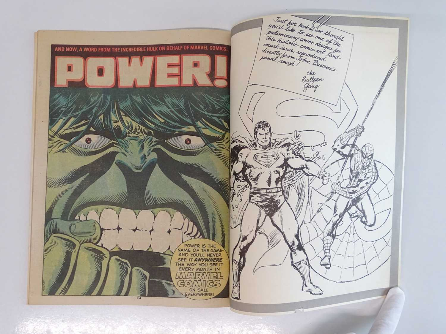 SUPERMAN AND SPIDER-MAN: COLLECTORS EDITION (1981 - MARVEL/DC) Special edition over-sized issue - Image 5 of 9