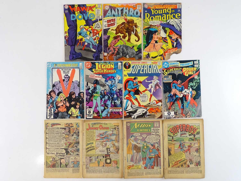 HAWK & DOVE + ANTHRO + YOUNG ROMANCE + V + LEGION OF SUPER-HEROES + SUPERGIRL + DC COMICS PRESENTS +