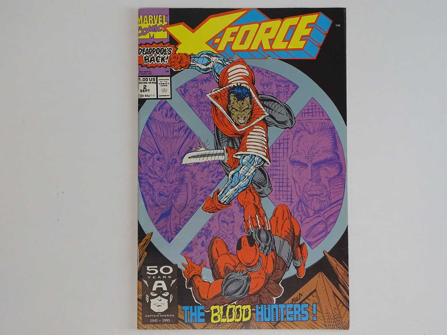 X-FORCE #2 - (1991 - MARVEL) - Second appearance Deadpool + First appearance Weapon X +