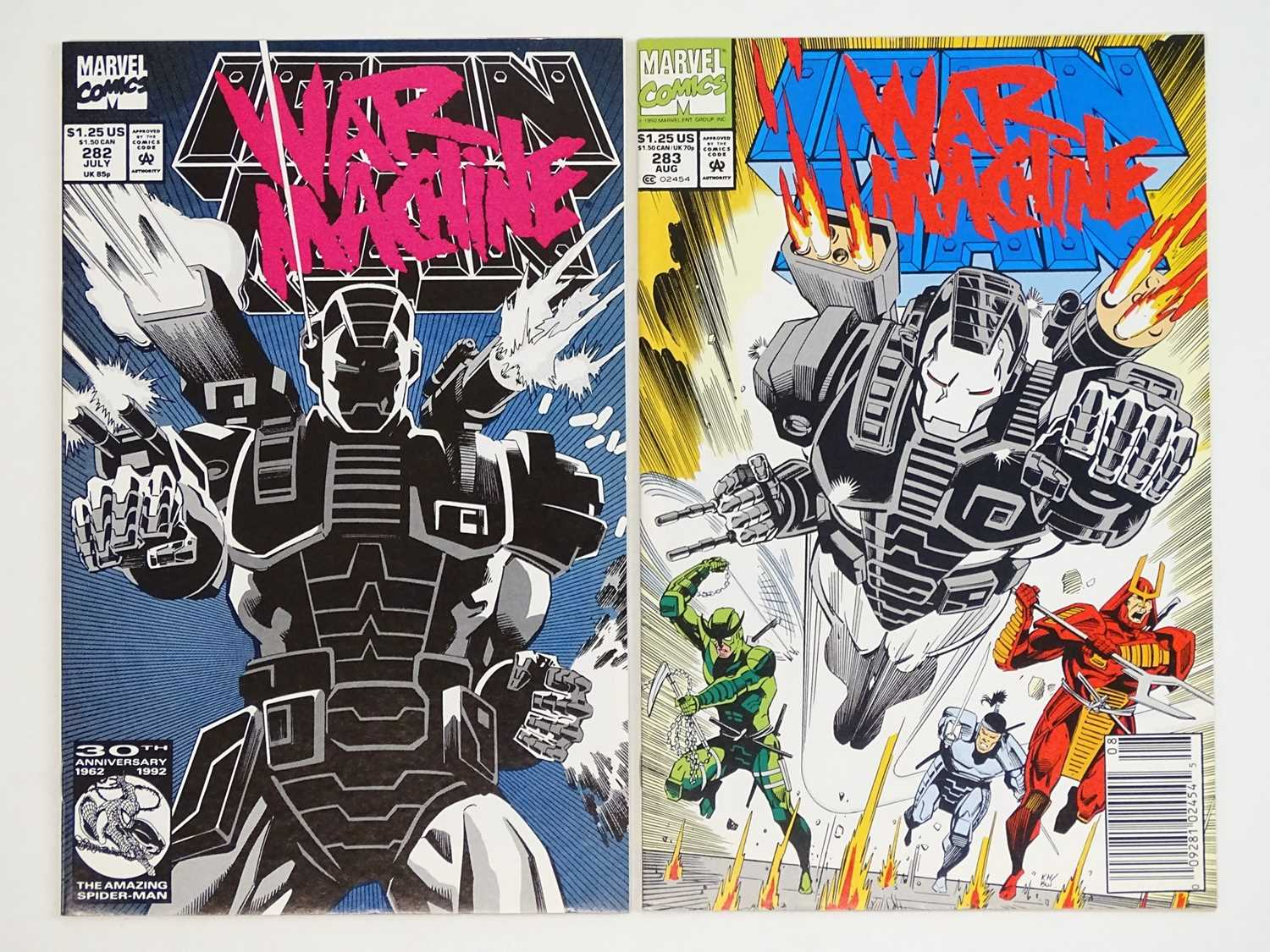 IRON MAN #282 & 283 - (2 in Lot) - (1992 - MARVEL) - HOT Character & Book - First full and second