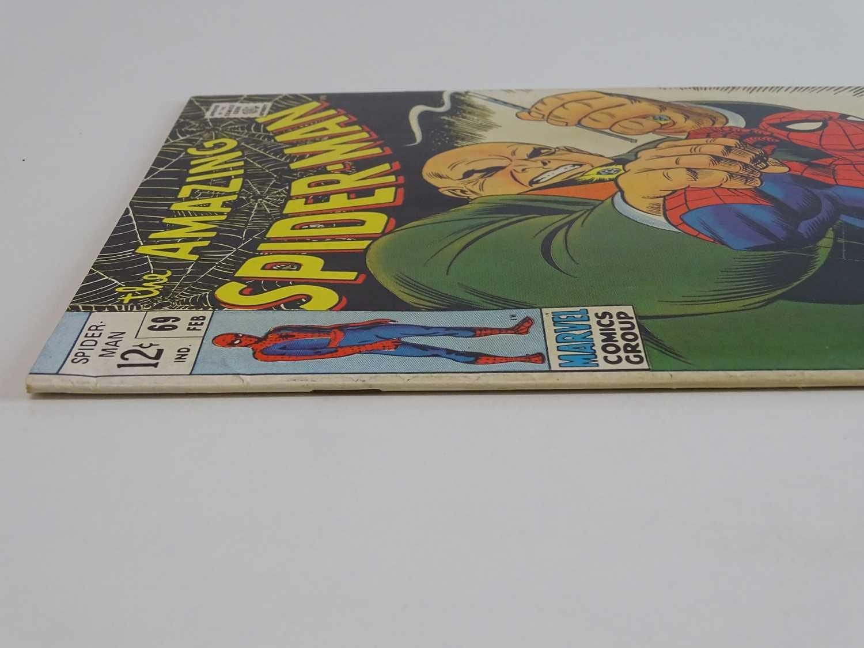 AMAZING SPIDER-MAN # 69 (1969 - MARVEL) - Kingpin appearance cover & story - John Romita Sr. cover - Image 8 of 9