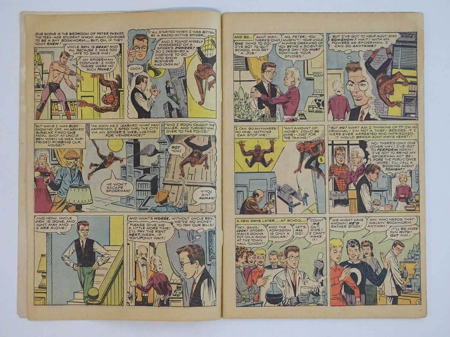 AMAZING SPIDER-MAN #1 - (1963 - MARVEL - UK Price Variant) - First appearance of Spider-Man un his - Image 10 of 27