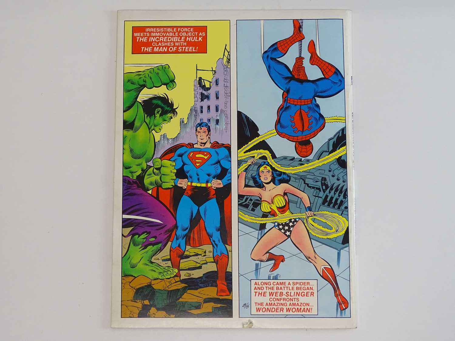 SUPERMAN AND SPIDER-MAN: COLLECTORS EDITION (1981 - MARVEL/DC) Special edition over-sized issue - Image 3 of 9