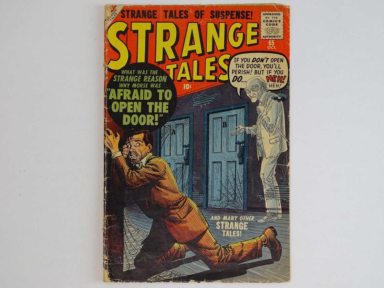 STRANGE TALES #65 - (1958 - MARVEL) Joe Maneely cover with John Severin, John Forte, Bernard