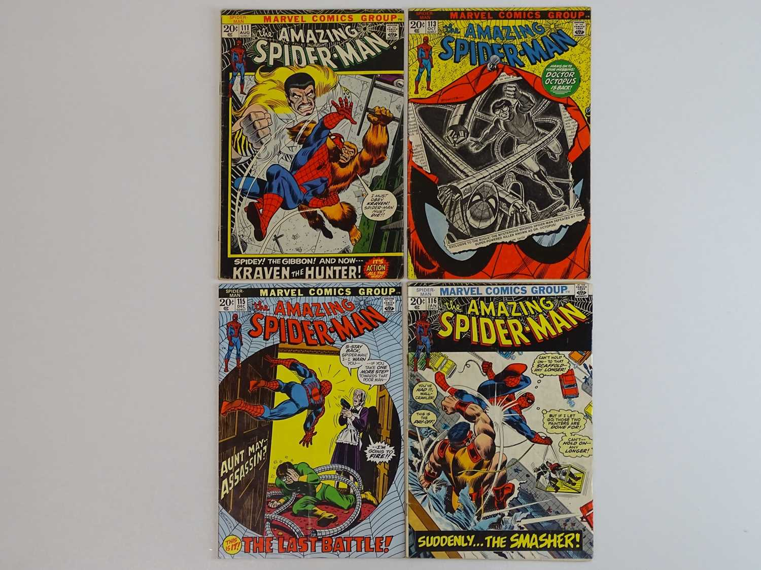 AMAZING SPIDER-MAN #111, 113, 115, 116 - (4 in Lot) - (1972/73 - MARVEL) - Includes First appearance