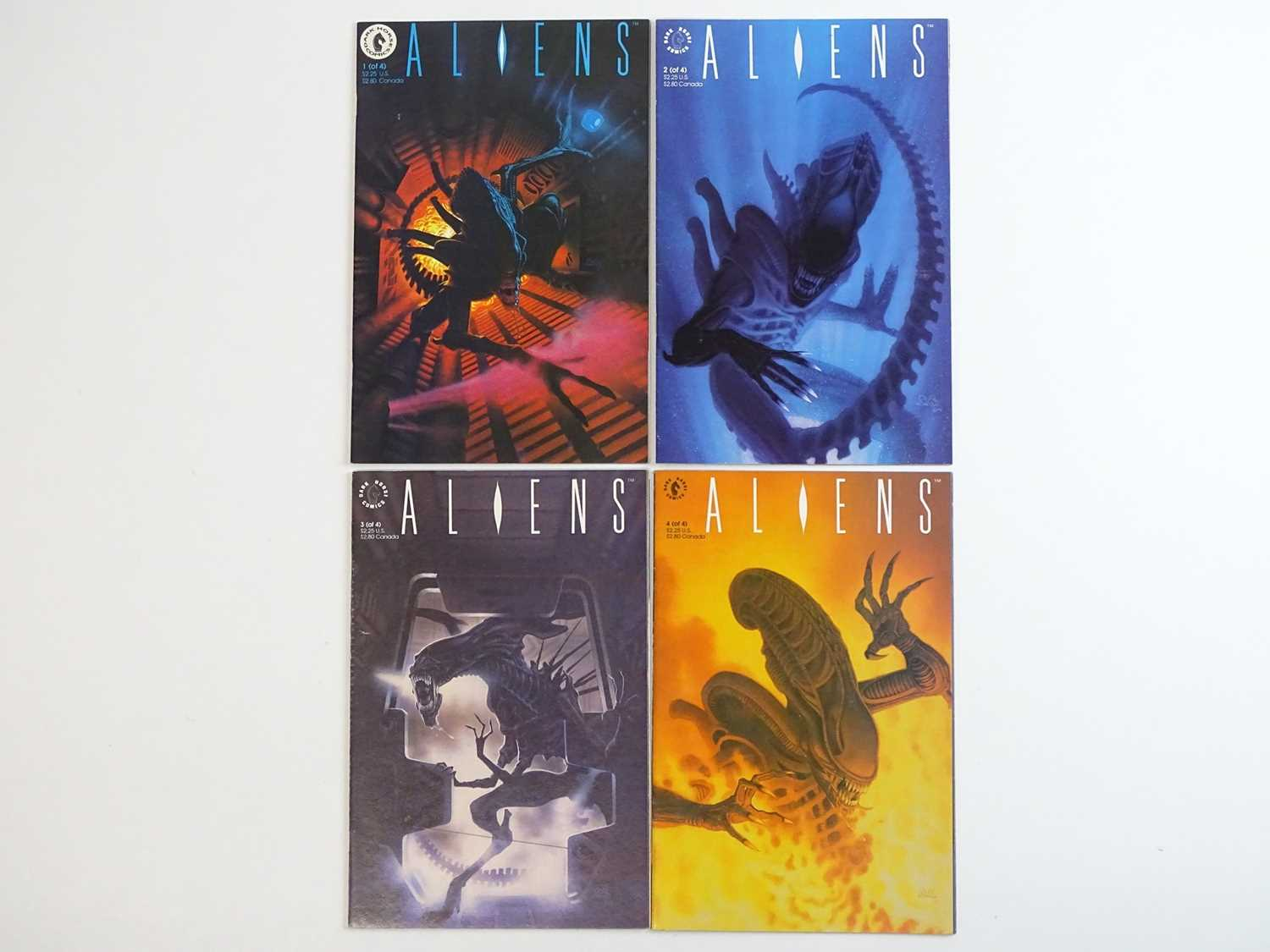 ALIENS #1, 2, 3, 4 - (4 in Lot) - (1989/90 - DARK HORSE) - ALL First Printings - Complete 4 x