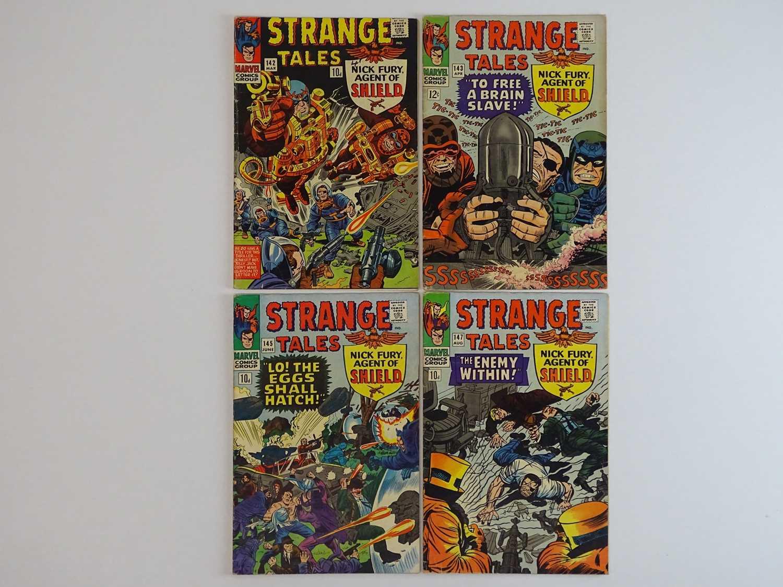 STRANGE TALES: DR. STRANGE & NICK FURY, AGENT OF SHIELD #142, 143, 145, 147- (4 in Lot) - (1966 -