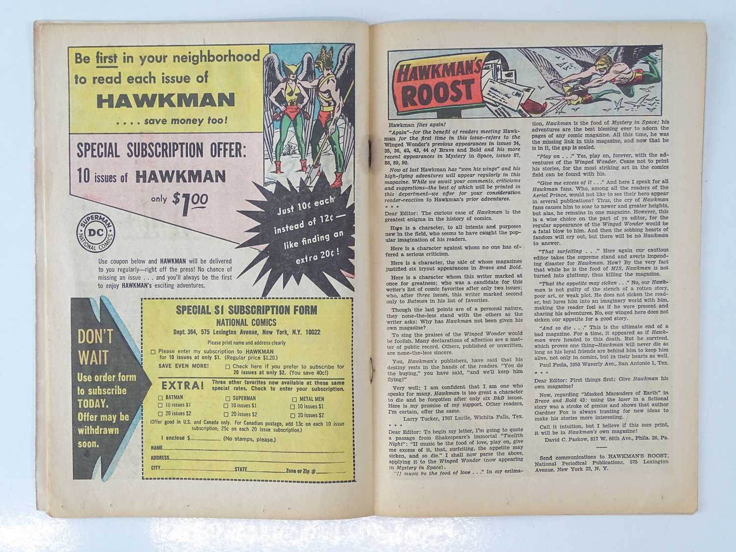 """HAWKMAN #1 - (DC - UK Cover Price) - First solo title for Hawkman gets after appearances in """"Brave - Image 5 of 9"""